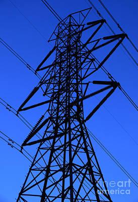High Voltage Power Line Silhouette Original by Gary Whitton