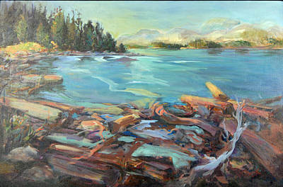 Painting - Highest Tide Rebecca Spit by Nanci Cook