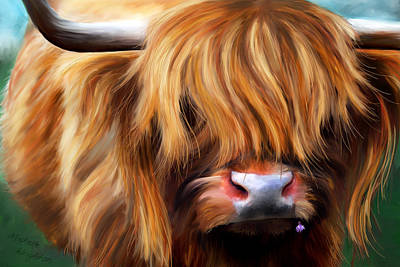 Painting - Highland Cow by Michelle Wrighton