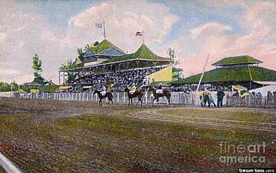 Painting - Highland Park Club In Detroit Mi 1907 by Dwight Goss