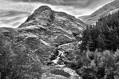 Highland Stream Bw Art Print by Paul Prescott