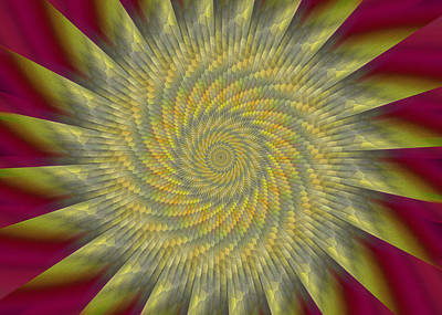 Digital Art - Highspeed Pinwheel by Mark Greenberg