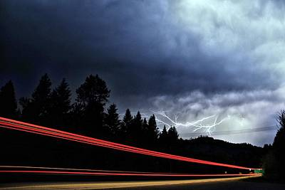 Highway Lightning Art Print by Don Mann