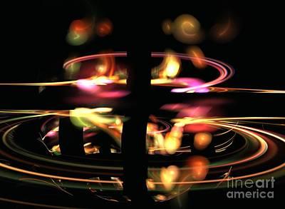 Kim Digital Art - Highway Lights by Kim Sy Ok