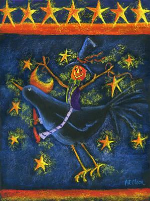 Hiho Mr. Crow Art Print by Pat Olson