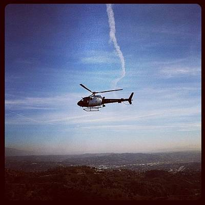 Helicopter Photograph - Hiking And The Po-po Decides To Take by Andres Cruz