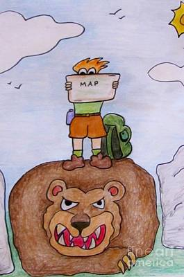 Hiking Gone Wrong Art Print by Bruce Semon