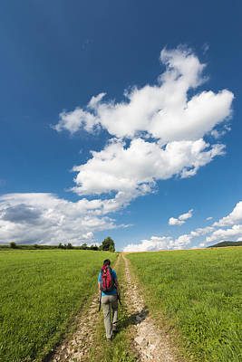 Photograph - Hiking In The Summer by Matthias Hauser