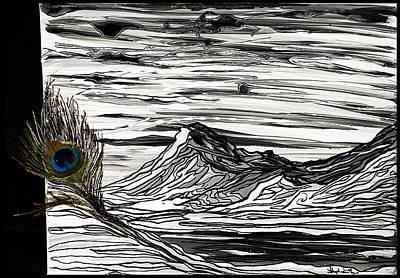 Hilary's Feather Art Print by Stephanie Meyer