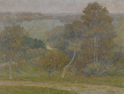 Wooded Path Painting - Hill And Hollow by Lewis Henry Meakin