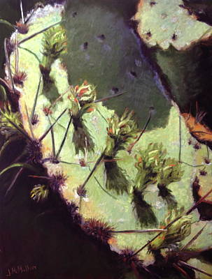 Nature Center Painting - Hill Country Cactus by Jacquie McMullen