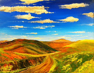 Hill View Valley Art Print by Nelson