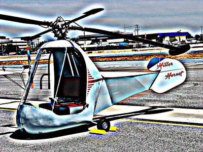 Photograph - Hiller Hornet Helicopter by Samuel Sheats