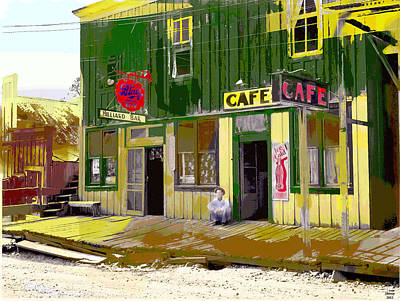 Art Print featuring the mixed media Hilliard Bar by Charles Shoup