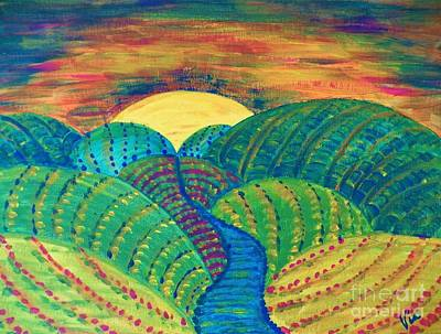 Painting - Hills Of Autumn by Judy Via-Wolff
