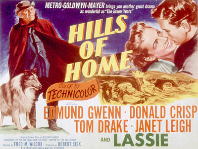 Hills Of Home, Lassie, Edmund Gwenn Art Print
