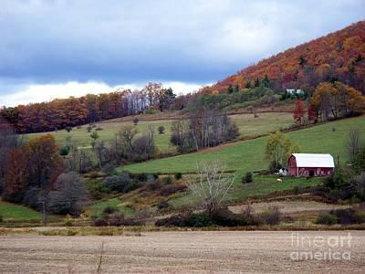 Photograph - Hillside Farmstead by Christian Mattison