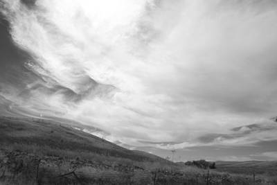 Print featuring the photograph Hillside Meets Sky by Kathleen Grace