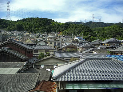 Japan House Photograph - Hillside Village In Japan by Daniel Hagerman
