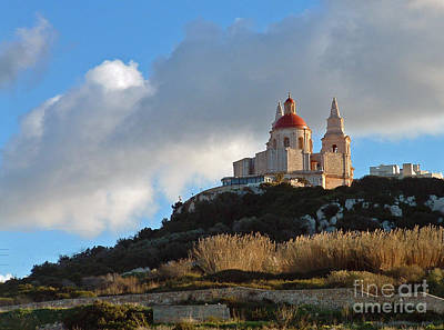 Photograph - Hilltop Church by Mary Attard