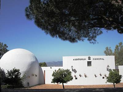 Photograph - Hilltop Civic Auditorium Mijas Spain by John Shiron