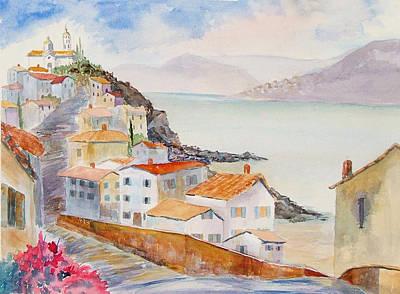 Painting - Hilltop Town by Heidi Patricio-Nadon