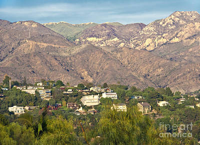 Hilly Residential Area Art Print by David Buffington