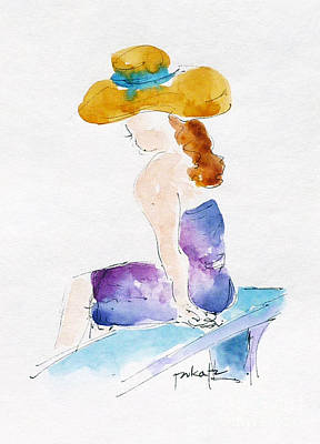 Painting - Hilo Hattie Fashionista by Pat Katz