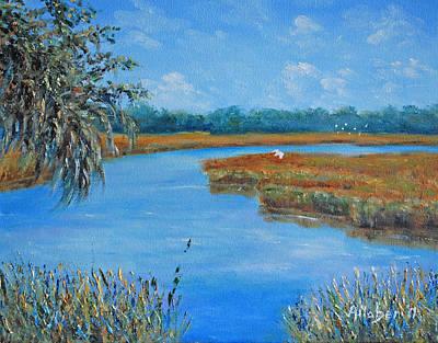 Tidal Creek Painting - Hilton Head Tidal Creek by Stanton D Allaben