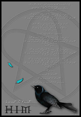 Ville Valo Digital Art - Him Poster by Lauren  Pucci