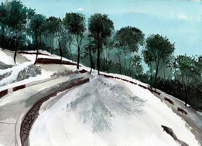 Beautiful Scenery Painting - Himalaya 2 by Anil Nene
