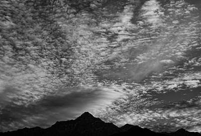 Himalayan Sky In Black And White Art Print by Don Schwartz