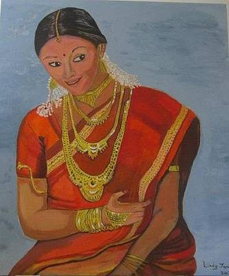 Painting - Hindu Bride by Jennylynd James