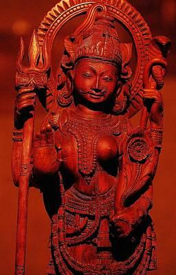 Hindu Goddess Art Print by Abhilash G Nath