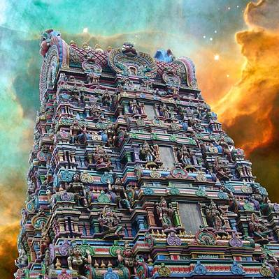 Parvati Digital Art - Hindu Temple Cosmos 1 by Gregory Smith