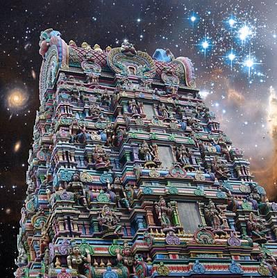 Parvati Digital Art - Hindu Temple Cosmos 2 by Gregory Smith