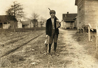 Rabbit Hunting Photograph - Hine: Hunter, 1908 by Granger