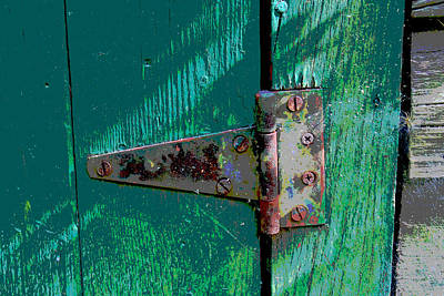 Photograph - Hinge On A Green Door by Bob Whitt