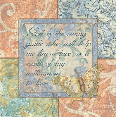 Scripture Painting - Hint Of Spring Butterfly 1 by Debbie DeWitt