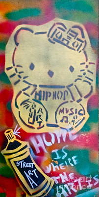 Liberal Painting - Hip Hop Kitty by Tony B Conscious