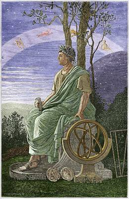 Hipparchus, Ancient Greek Astronomer Art Print by Sheila Terry
