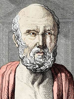 Hippocrates, Ancient Greek Physician Art Print by Sheila Terry