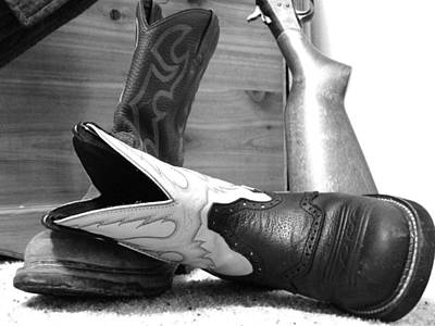 Photograph - His And Her's Boots by Kaysie Yeates