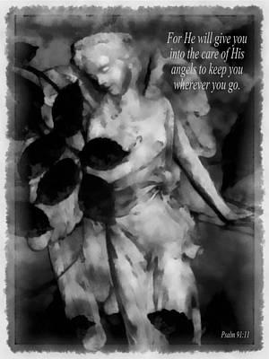 His Angels 1 Art Print by Angelina Vick