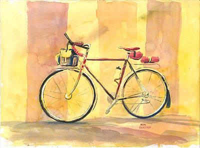 His Bike Remembered Art Print