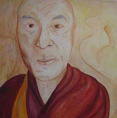 His Holiness The Dalai Lama Art Print by Lorraine Toler
