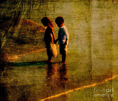 Avantgarde Photograph - His Kindergarten Sweetheart by Susanne Van Hulst