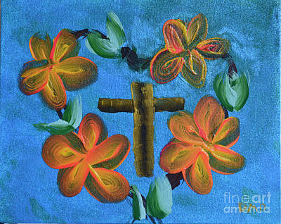 Painting - His Love For Us by Donna Brown