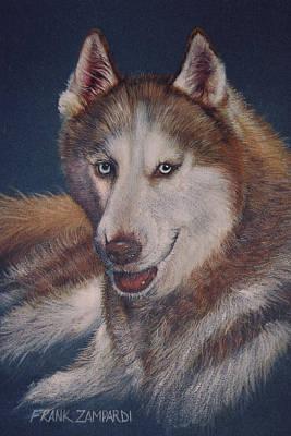 Huskie Wall Art - Drawing - His Majesty by Frank Zampardi