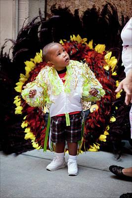 Hispanic Columbus Day Parade Nyc 11 9 11 Young Boy Preparing Art Print by Robert Ullmann